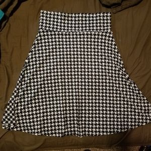 Houndstooth Azure skirt